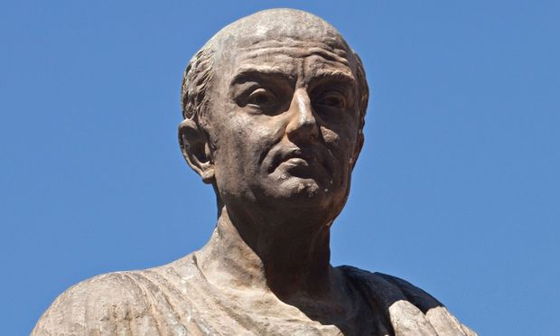 'Why do you talk so much better than you live?' … a statue of Seneca the Younger.