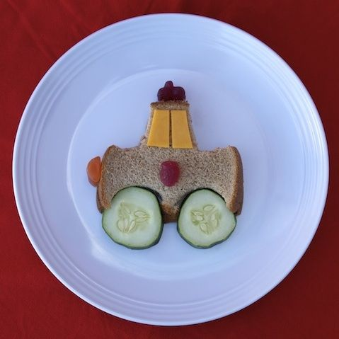 Learn how to make fun foods for kids like this sandwich shaped like a police car snack!