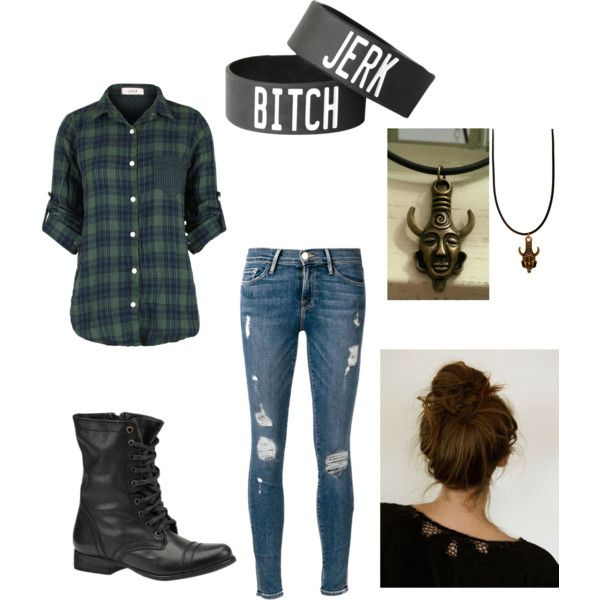 supernatural inspired outfit  by wolfie112-99 on Polyvore featuring polyvore fashion style Frame Denim Steve Madden