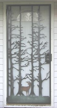 Security Screen Door  Love This But Instead Of The Deer I Would Want Ravens  In