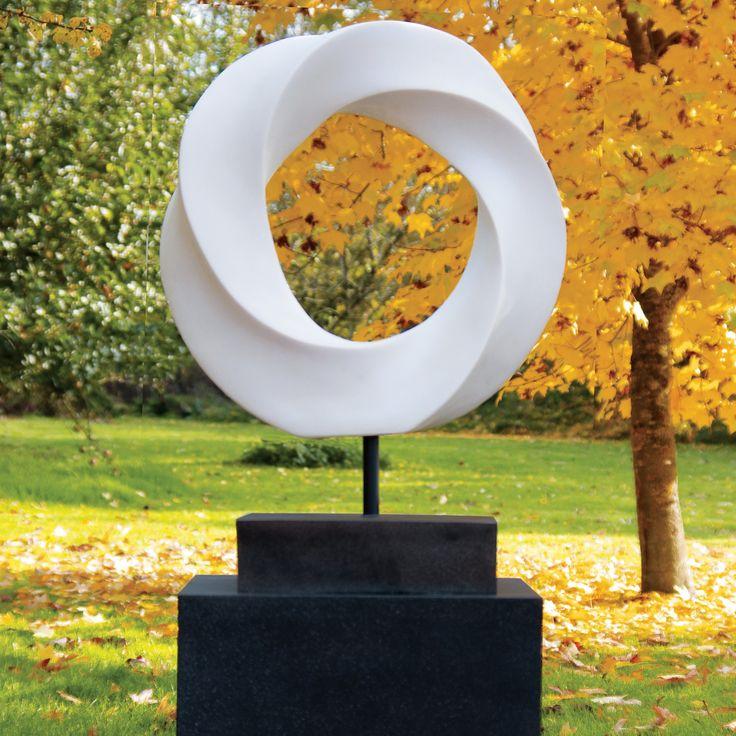 Eternal Contemporary Garden Sculpture on Pedestal. Buy now at http://www.statuesandsculptures.co.uk/eternal-contemporary-garden-sculpture-on-pedestal