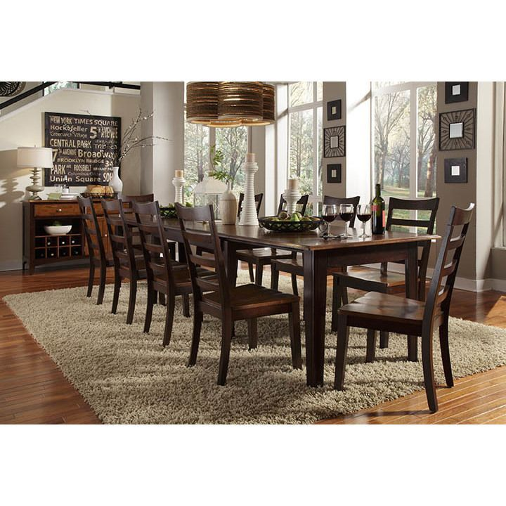 The matching table, server and chairs of this Braelyn Dining Collection will complete your room with exquisite style. The oak and espresso finished pieces enhance your decor, and the table expands to fit all your guests.