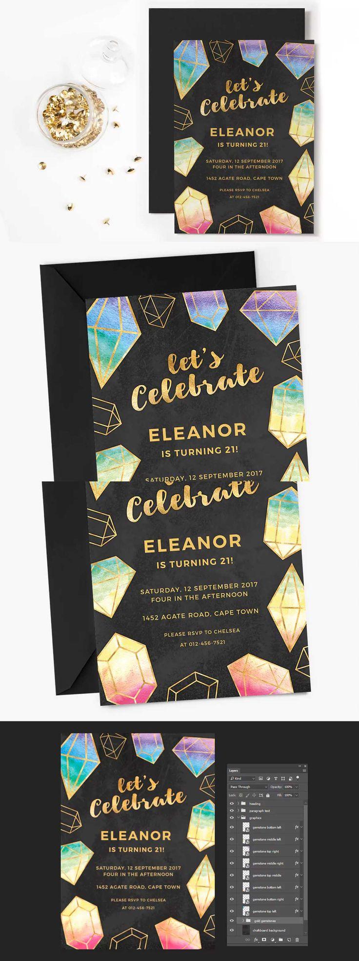 53 besten Invitation Card Templates Bilder auf Pinterest