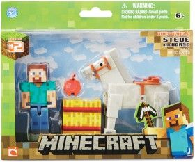 Minecraft Steve and Horse