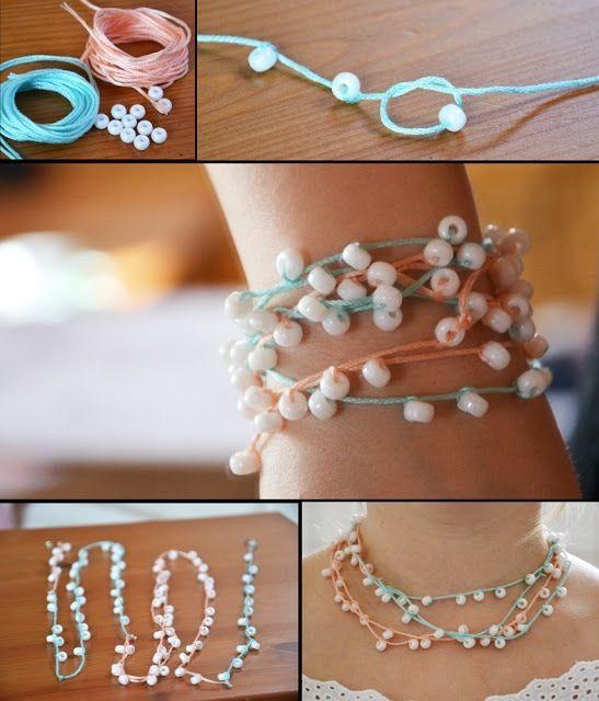 Jak vyrobit náramek, náhrdelník z korálků