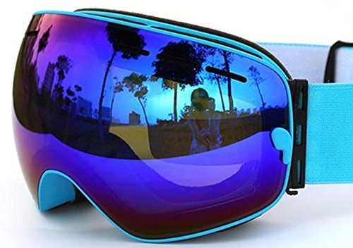 COPOZZ Snowboarding Ski Snowmobile Snow Goggles with Detachable Dual Layer Lens Durable Anti Fogging Anti UV 400 OTG Comfortable Wide Vision Spherical Goggles Different VLT Avaliable