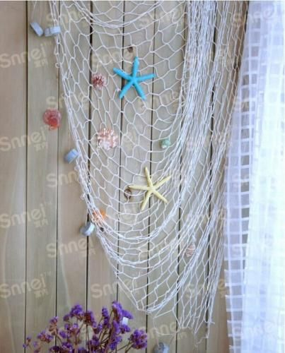 HOT-Decorative-Fishing-Net-Beach-Scene-Party-Home-Decors-Mediterranean-Design-FW