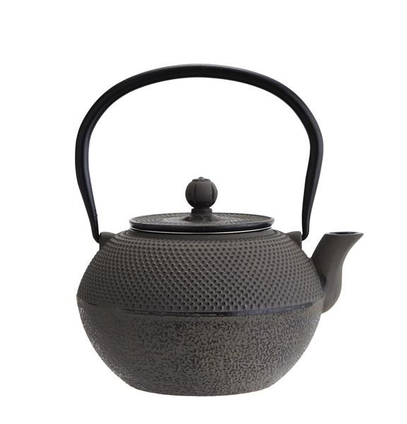 With elaborate relief designs, the traditional tetsubin cast iron teapot was originally heated over a charcoal fire & formed the centre piece for the Japanese tea ceremony. to meet modern use, since the infused tea has become more popular these contain a stainless steel infuser, so simply fill with hot water. set contains: cast iron teapot & pair of matching cast iron.