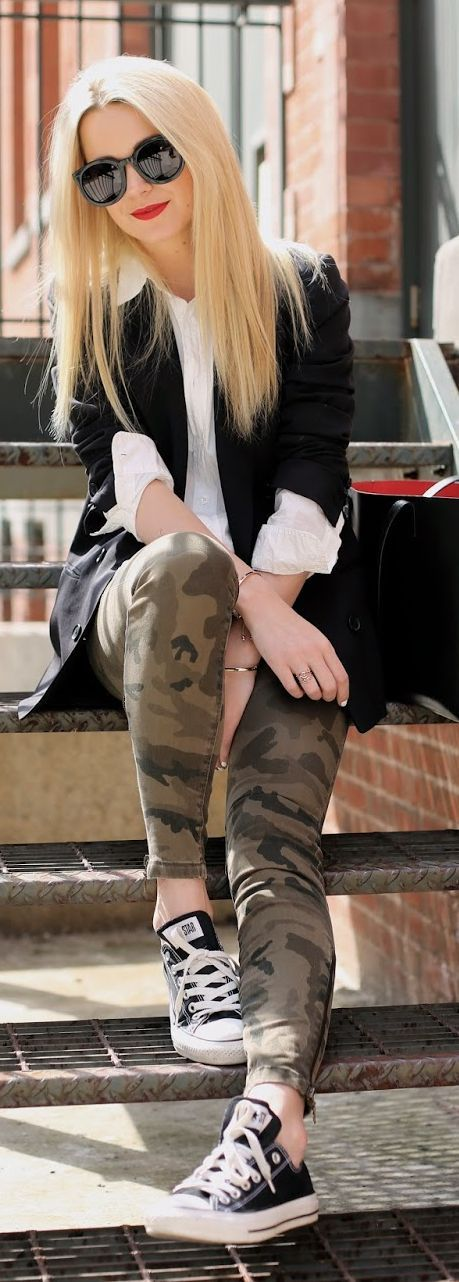 True religion Casey Camo Skinny Jeans by Atlantic - Pacific