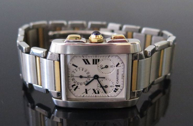 A Cartier Bi-Metal Chrono Reflex Wristwatch. Serviced 4th July 2014 _ work carried out by Cartier through Goldsmiths Ref: 170027592 at a cost of £560