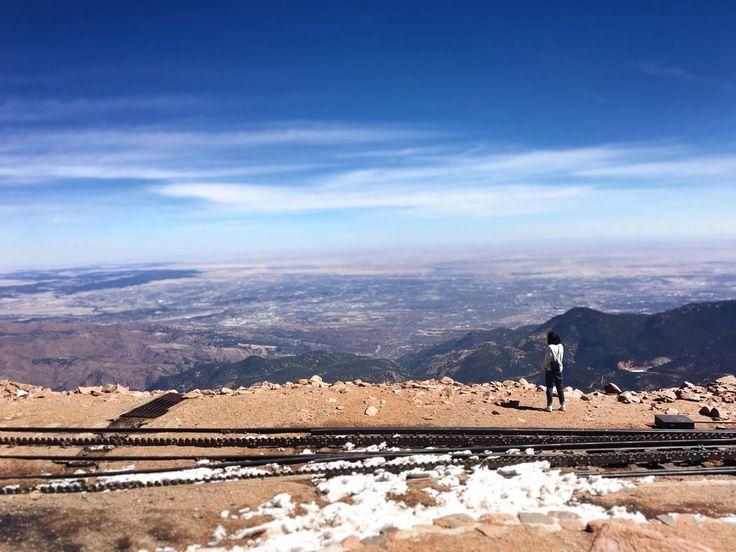 pikes peak summit Colorado Springs гора Пайкс Пик