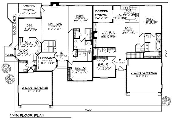 25 b sta duplex plans id erna p pinterest ritningar hemdesign for Duplex plans for seniors