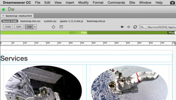 Inserting a Navigation Bar with Bootstrap and Dreamweaver CC 2015