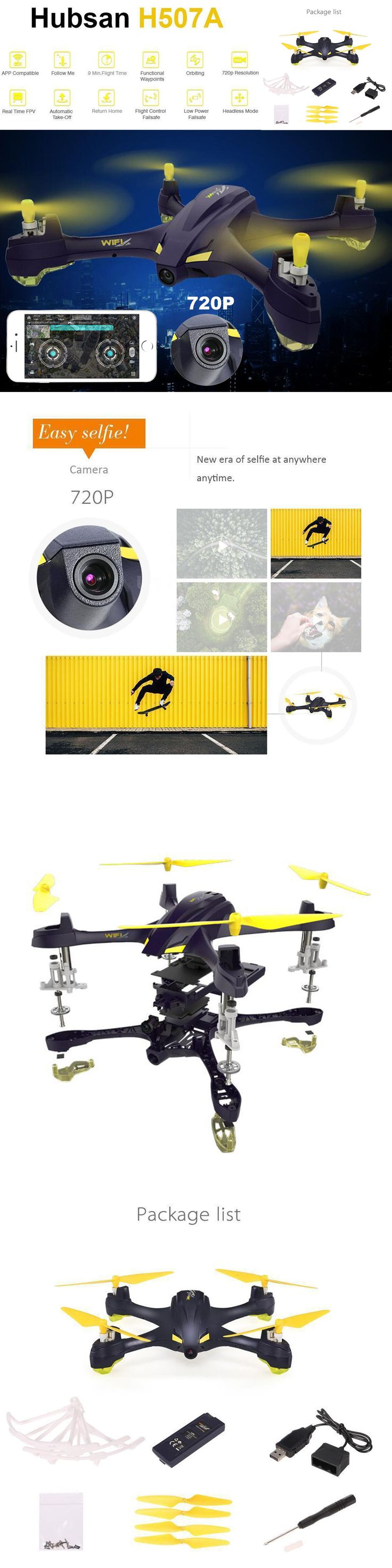 Other RC Model Vehicles and Kits 182186: Hubsan H507a X4 Star Pro 720P Camera Wifi Fpv Rc Quadcopter Follow Me Drone Gps -> BUY IT NOW ONLY: $119.89 on eBay!