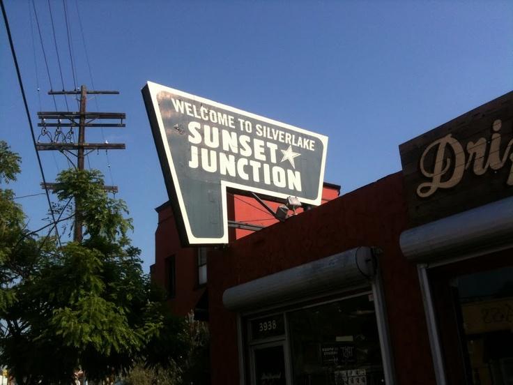Sunset Junction sign, Silverlake