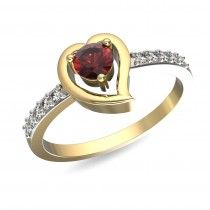 A pretty ring with the ruby taking the centre stage to gift your beloved. #surprisewithdiamonds #newcollection