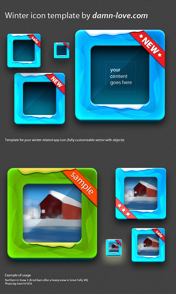 RunPlusDesign: mobile lifestyle, running and design: Winter application icon template freebie