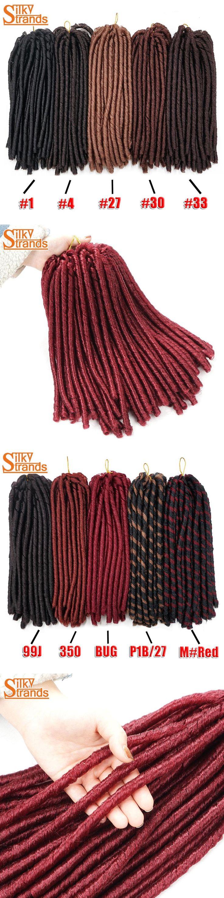 Silky Strands Crochet Dreadlocks Hair Extensions Crochet Braids Hair Soft Dread Kanekalon Synthetic Hair For Braids Bulk Colors