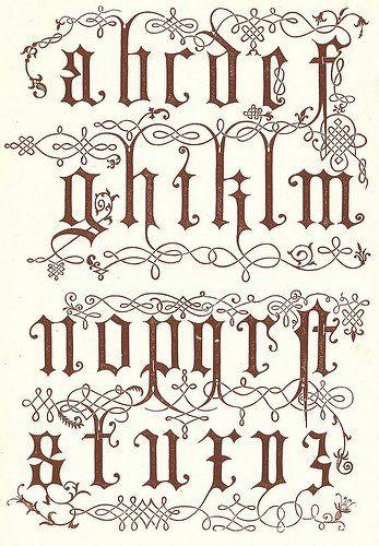 Best 25 abecedario en letras goticas ideas on pinterest - Letras para dibujar ...