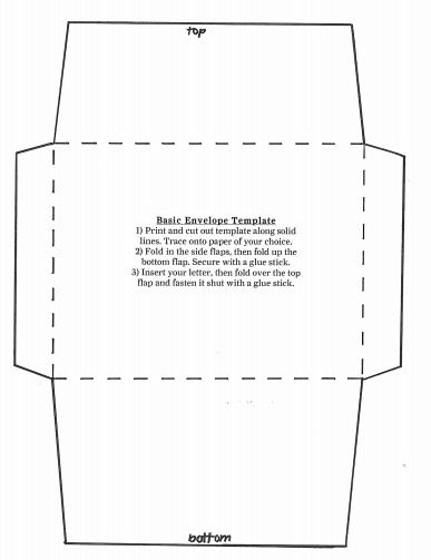 printable envelope template for 5x7 card