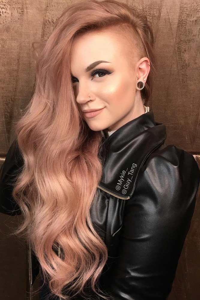 24 Cute Amp Rebellious Half Shaved Head Hairstyles For