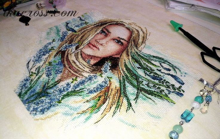 "Cross stitch pattern ""Wind of change""."