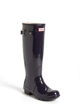 Hunter 'Original Tall' Gloss Rain Boot (Women) on shopstyle.com