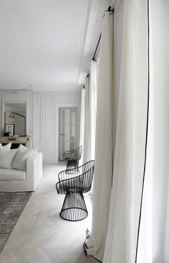 airy white living room