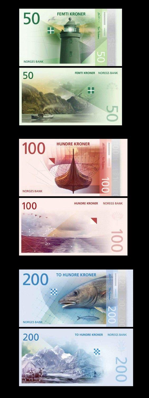 Banknoten Norwegen – Entwurf The Metric System