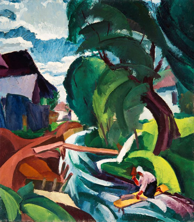 Mágori Vargha Béla: Falurészlet, 1940 körül © Szépművészeti Múzeum Magyar Nemzeti Galéria