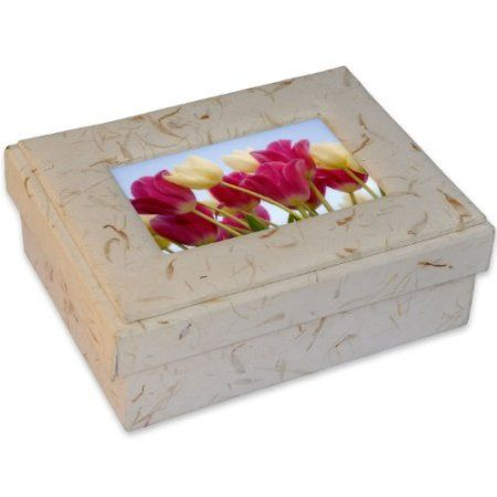 Off White Handmade Hardboard Jewelry & Frame Box
