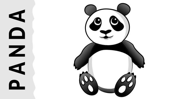 Cómo dibujar un Oso Panda paso a paso con dibujart.com