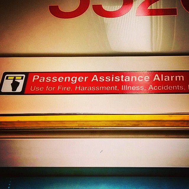 The Emergency Alarm, formally known as the Passenger Assistance Alarm. #ttc #toronto