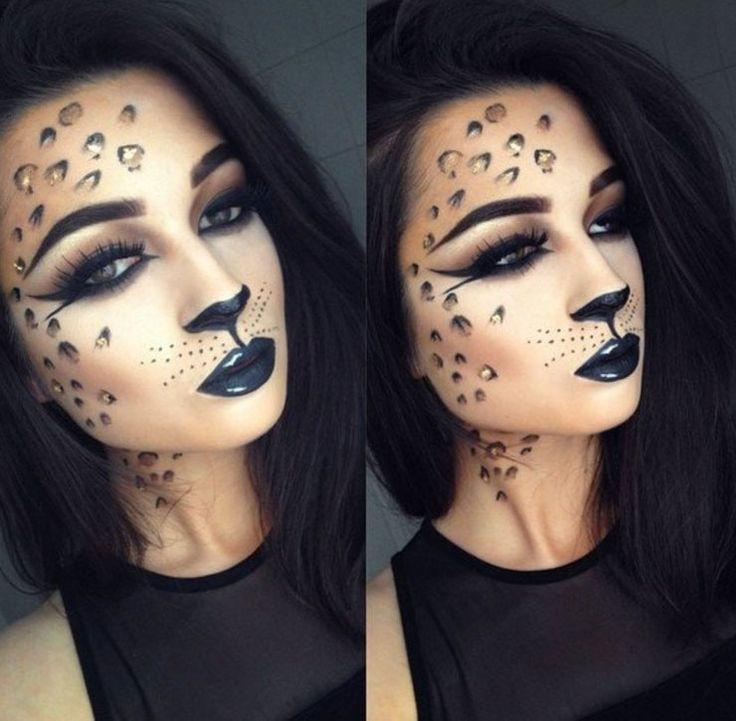 This leopard makeup is killer.   Halloween Party