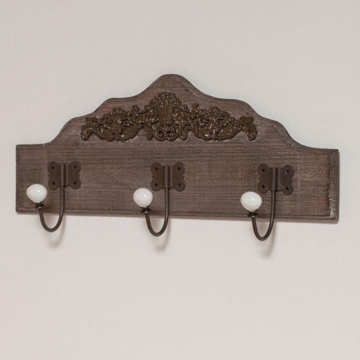 antique sold oak hat rack face brass hall dutch shelf coat hooks or shop