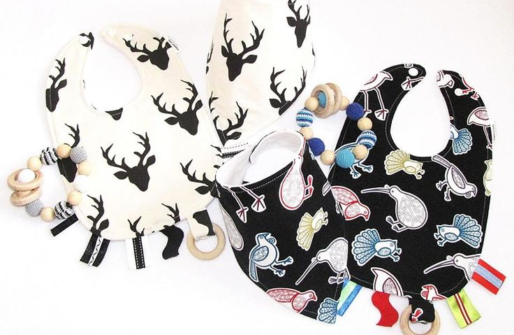 Buy fun bibs and teething rings from Elephant Ollie