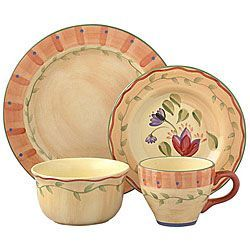 @Overstock.com - Enhance your dining experience with Pfaltzgraff Napoli 48-piece dinnerware set Casual dinnerware is a subtly decorated hand-painted collection Dinnerware features shades of pale orange, yellow and more