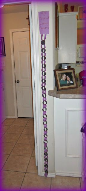Lent for Kids -names on the links of a chain, one to pray for daily during lent