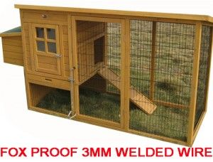Mayfair - 100% Fox Proof Chicken Coop with fox proof 3mm welded and coated wire | Eggshell Online | Eggshell Online