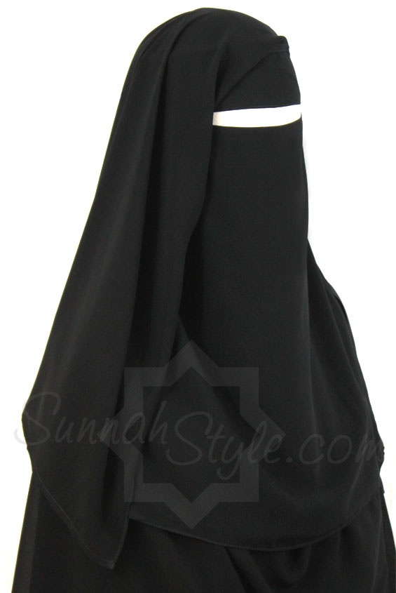 Two Piece Niqab (Black) by Sunnah Style #SunnahStyle #niqabstyle #niqaab