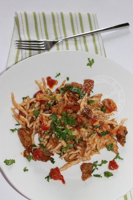 I Pasticci di Luna: Pasta alla siciliana con pesce spada e melanzane