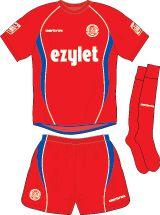 Aldershot Town home kit for 2008-09.