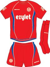 Aldershot Town FC Football Kits 2008-2009 Home Kit