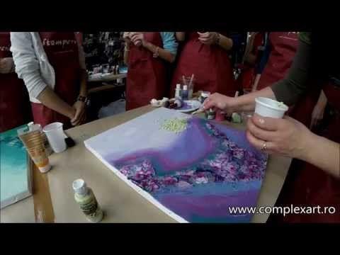 Decoupage tutorial - DIY. Decoupage on canvas. How to make canvas art. - YouTube