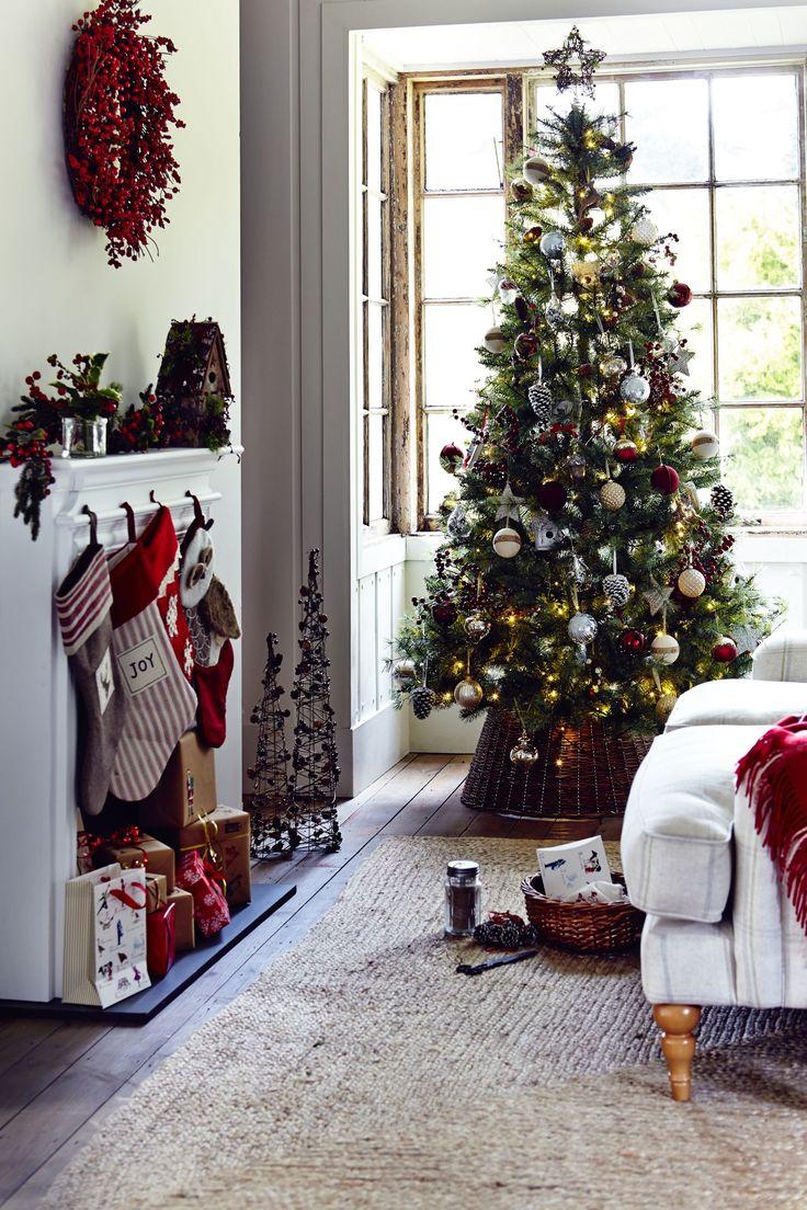 White apron john lewis - John Lewis 7ft Cooper Pine Tree 150 Red Berry Wreath 35 Wooden Birdhouse