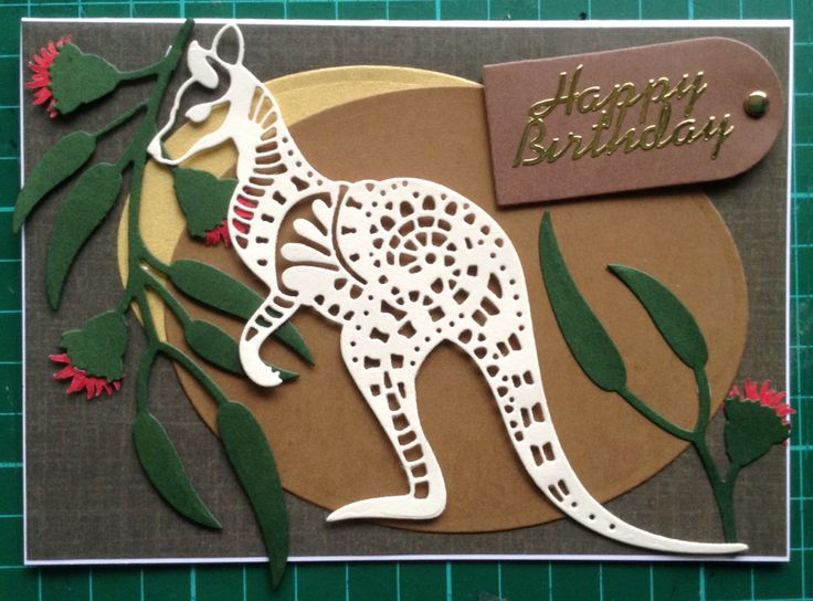 Dreamtime Kangaroo card :)) November 2015