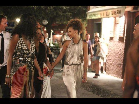 Rihanna visiting Portofino Italy.