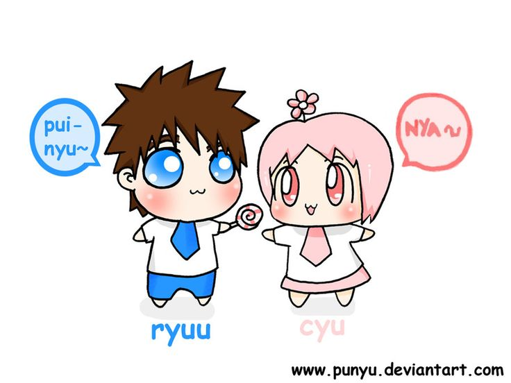 Ryuu and Cyu by Punyu