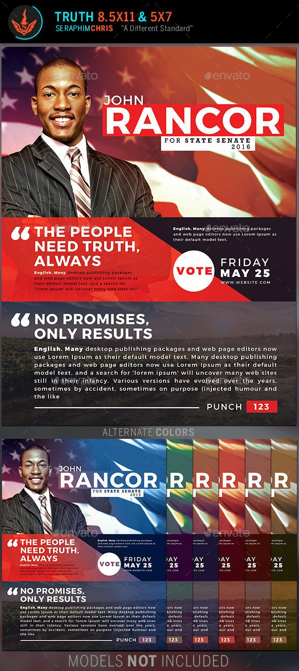 93 best Political Huuge Wall of Marketing Templates images on - campaign flyer template