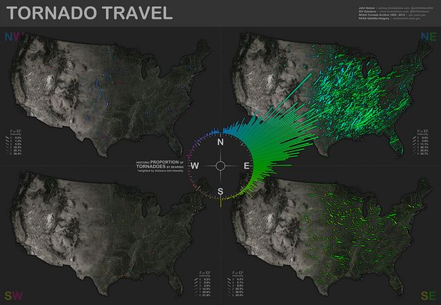 Tornado Travel Map by www.IDVsolutions.com, via Flickr